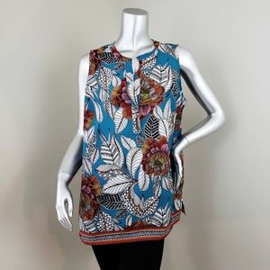 Dalia Tropical Floral Print Blouse